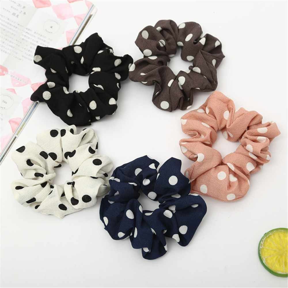 Hair Accessories Scrunchie Women Elastic Hair Rope Ring Tie Scrunchie Ponytail Holder Hair Band Headband Turban #CE25