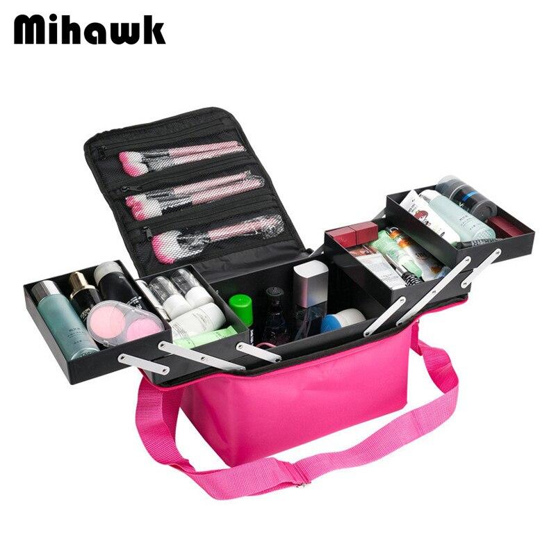 Mihawk femmes grande capacité professionnel maquillage organisateur mode toilette cosmétique sac multicouche boîte valise portable approvisionnement