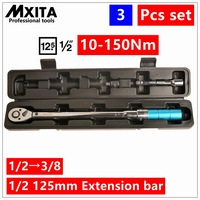 3PCS 1 2 Driver Click Adjustable Micrometer Torque Wrench Hand Tool Spanner High Quality