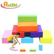 Ruizhi 2 개/대 아이들은 강 벽돌 유치원 게임 소품 균형 훈련 스포츠 키즈 팀웍 rz1047에 걸쳐 돌을 터치