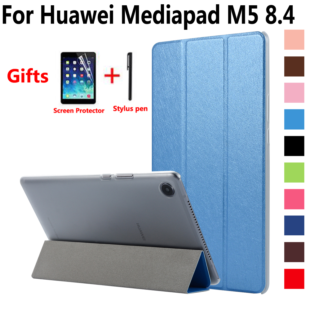 Pu Case for Huawei Mediapad M5 8 8.4 inch SHT-W09 SHT-AL09 Cover Tablet Slim Stand Smart Case for Huawei Mediapad M5 8.4 silicone with bracket flat case for huawei mediapad m5 8 4 inch