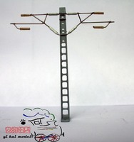 Train model single column double arm contact network Train model rail simulating single sandbox accessory toy scene