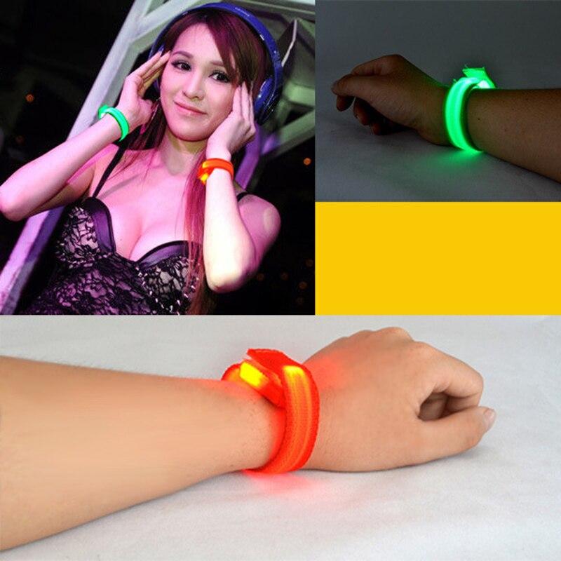 New LED Flashing Wrist Band Bracelet Arm Band Belt Light Up Dance holiday Party Glow For Party Decoration Gift