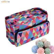 5 Styles Woolen Yarn Storage Bag Home Crochet Hooks Thread Case DIY Sewing Kit Travel Organizer Mom Gift