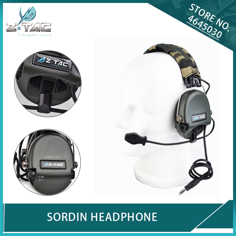 Z Tactical Aviation Sordin Headset Peltor Noise Canceling Earphone Airsoft Military Wargame Hunting Shooting Headphone FG