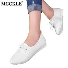Mcckle/Для женщин Высокое качество модные острый носок Кружево до Низкий каблук женские Повседневное Осень Белый Черный Мягкая Подошва Танкетка Обувь