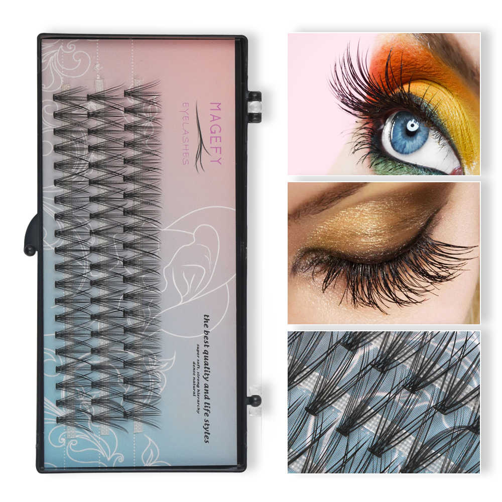 26ca36b84b5 MAGEFY 12mm 20D Women Individual Eyelashes Bundles Volume Lashes Extensions  0.07 C Curl Natural Faux Mink