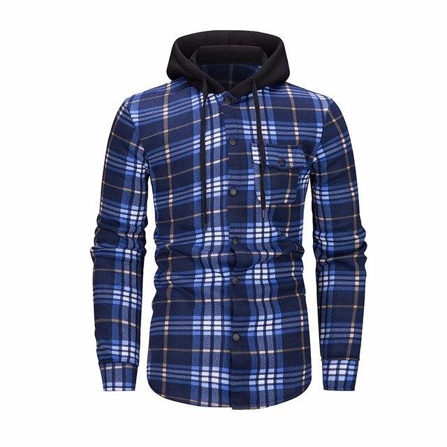 ZOGAA New Style Hoodies Men Plaid Hoodie Fashion Streetwear Hoody Sweatshirt For Men Clothing 2018 Long Sleeve Hooded Top 4