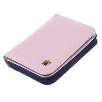 10pcs( ASDS Women Card Money Holder Wallet Pu Leather Purse Bag (Pink)