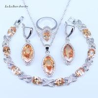 L B Nice Design Big EYE Silver Jewelry Sets For Womne Wedding 925 Stamp Jewelry Sets