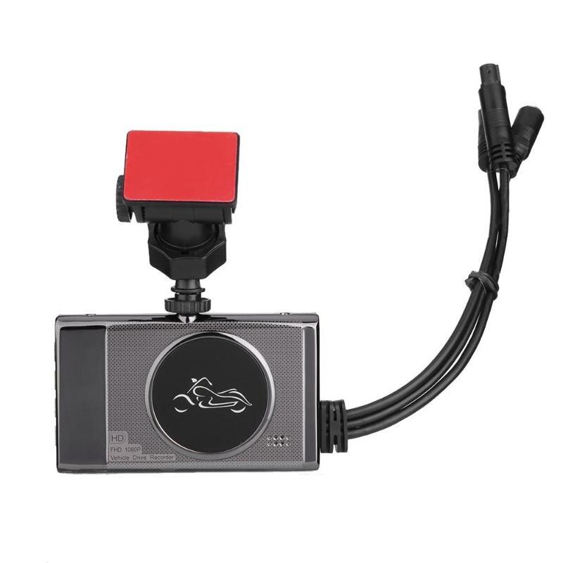 VODOOL moto accessoires pièces 3in moto DVR caméra enregistreur vidéo g-sensor 1080 P 720 P vue avant arrière Dash Cam