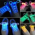 LED Sport Shoe Laces Flash Light Glow Stick Strap Shoelaces Disco Party Club 4 Colors 2017 Hot Selling