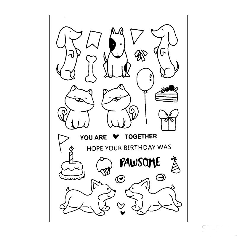 Dog   Transparent Clear Stamp for DIY Scrapbookingphoto album Decorative Card making
