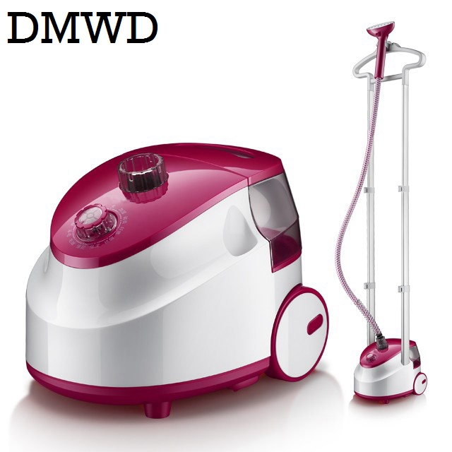 DMWD double pole Vertical Garment Steamer cloth steam iron electric hanging clothes ironing machine dry cleaning brush 2L 1800W specials every day hand held hung machine household steam iron ten stall thermostat vertical ironing machine ironing