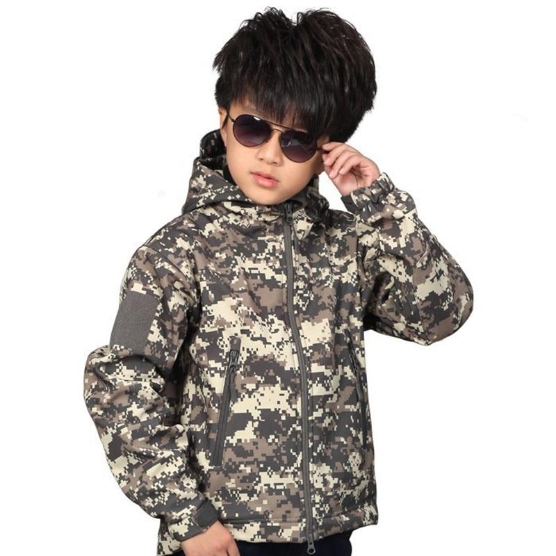 Piel Para De Táctico Impermeable Niños Jackets130 Acu Chaqueta Softshell Tiburón Tad 160cm w4tIW
