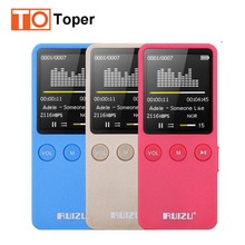 2017 Nuevos Llegan Ultrafino 8 GB Reproductor de MP3 Original RUIZU X08 Deportes MP3 Pantalla de 1.8 Pulgadas Puede Jugar 200 Horas FM, E-libro, Reloj, Datos