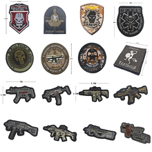 High Quality 100% Embroidered Armband Tactical Patches Medal Black Squirrel Action Army Fan Sticker Badge Badges Epaulette Patch