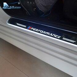 Скорость движения воздуха светодиодный порога Накладка охранников пороги автомобиля аксессуары для BMW X5 F15 X6 F16 F20 F21 F30 E90 F10 F11 E60 E70