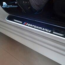 대기 속도 LED 도어 씰 스커프 플레이트 경비원 도어 씰 BMW X5 F15 X6 F16 F20 F21 F30 E90 F10 F11 E60 E70 용 자동차 액세서리