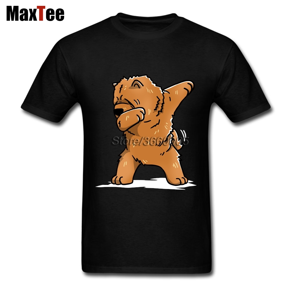 Chow Chow T-shirt Men Cool Custom Short Sleeve Plus Size Party Tshirt ...