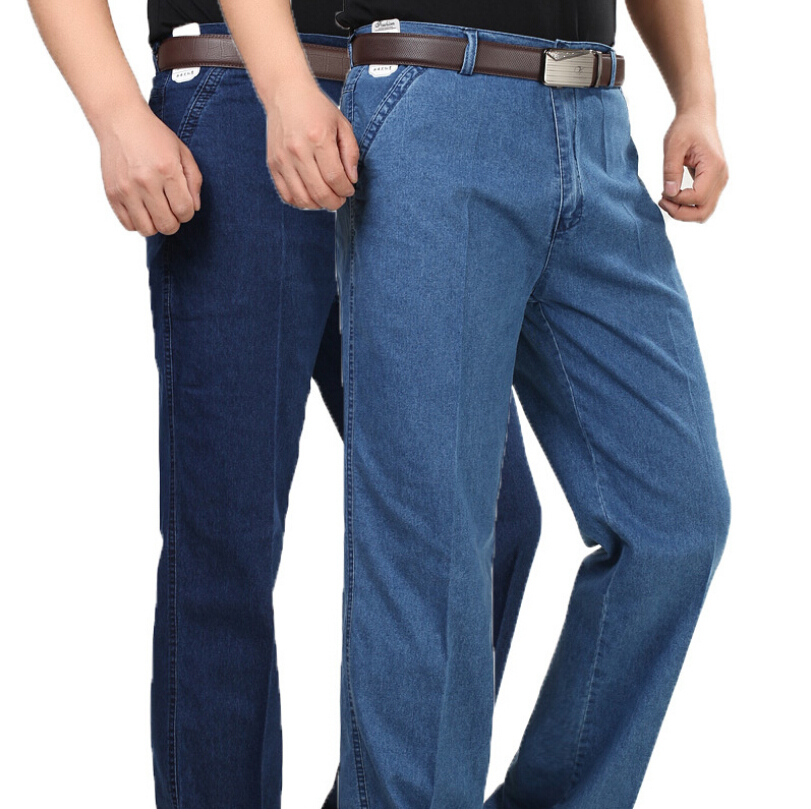 ФОТО Hot! 2016 Spring And Summer Style Men's Clothes New Fashion Men Denim Jeans Long Pants Middle Waist Classic Trousers Big Size 40