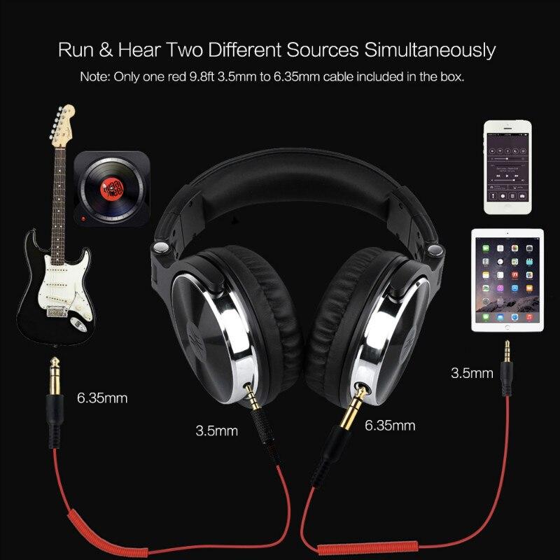 Image 5 - Наушники Oneodio с монитором для записи, Hi Fi, профессиональные  студийные наушники для диджея, басовая стереогарнитура Для Xiaomi iPhone  с микрофономНаушники и гарнитуры