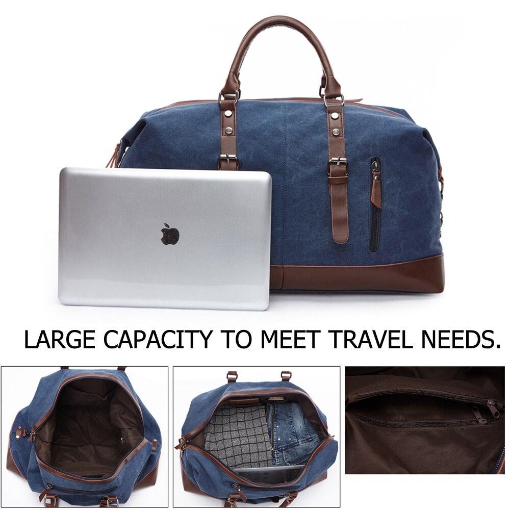 viagem duffel tote grande bolsa Tipo de Estampa : Sólida