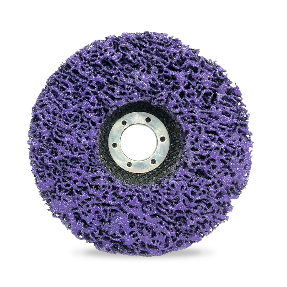 Purple Poly Strip Disc Wheel Paint Rust Removal Clean Angle Grinder 100*16mm TW