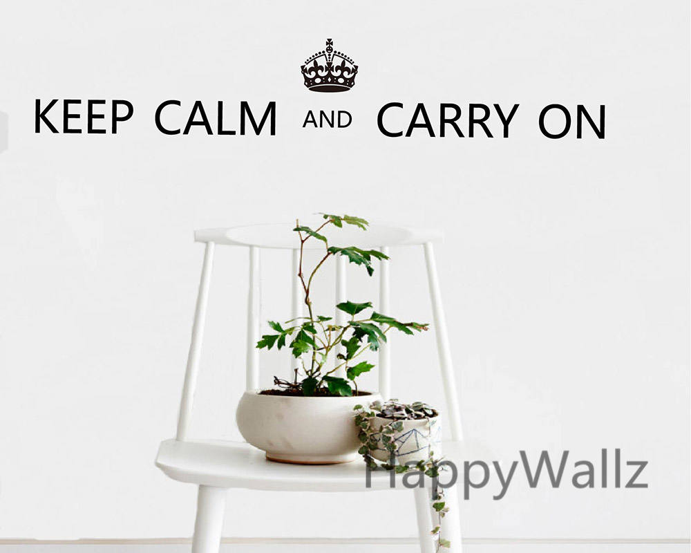 Motivational Keep Calm Carry On Quote Wall Sticker DIY Keep Calm Quote Wall Decal Vinyl Lettering Sticker Hot Sale Free Shipping