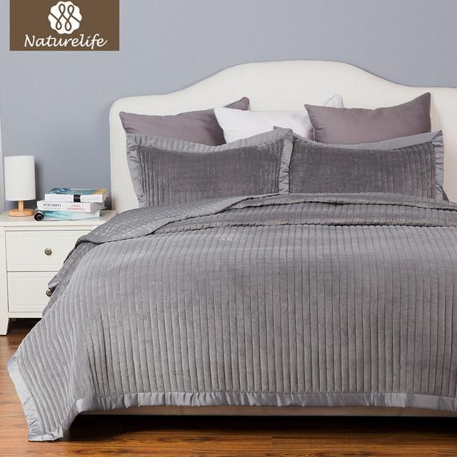 Aliexpress Buy Naturelife Quilt Set Velvet Bedspread Bed Cover