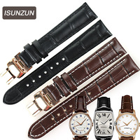 ISUNZUN Women's Watch Band For Mido Baroncelli M7600 M003 M007 Genuine Leather Watch Straps Nato Leather Strap Free Shipping