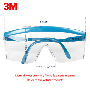 Image 4 - 3M 1711 Anti sand Anti Dust Resistant Transparent Glasses Work Bicyle Labor protective eyewear Anti wind Safety Glasses Goggles