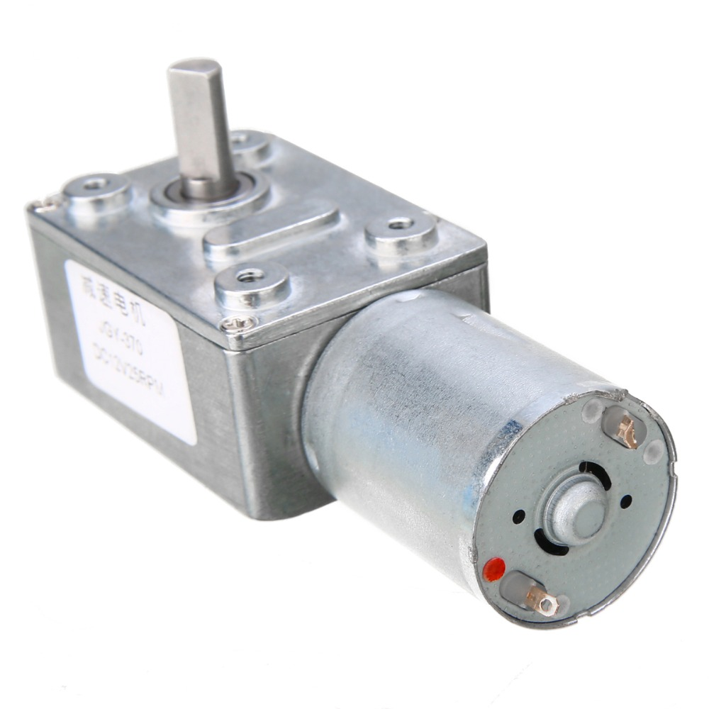 DC 12V 25RPM Geared Motor Reversible Turbo Worm High Torque Geared Reducer Motor GW370 стоимость
