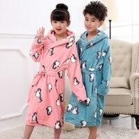 2019 новые модные халаты для мальчиков и девочек толстые халаты Детская одежда Одежда для детей от 6 до 12 лет