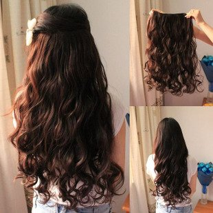 Free shipping 5 clip in hair extension 24 long curl hair piece 12 free shipping 5 clip in hair extension 24 long curl hair piece 12 colors can use heat 120g high quality on aliexpress alibaba group pmusecretfo Gallery