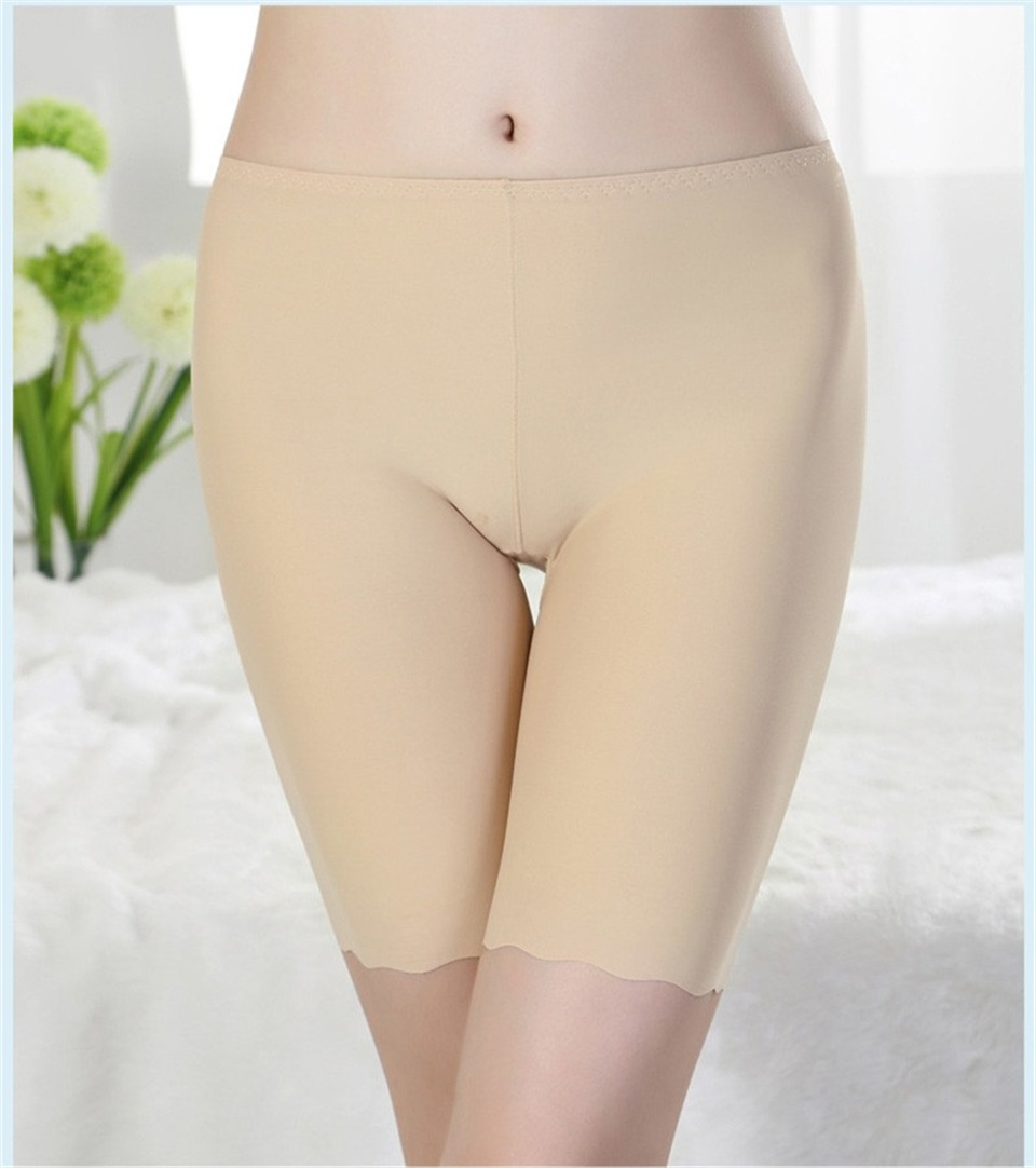 HTB13ziLrQSWBuNjSszdq6zeSpXaQ - Women Ice Silk Safety Pants Seamless Boy Shorts Boxer Female Modal Briefs Panties Ice Silk Safety Short Pants Underwear
