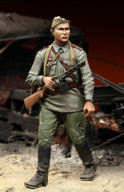 [tuskmodel] 1 35 Scale Resin Model Figures Kits Soviet Soldiers 5 Stalingrad