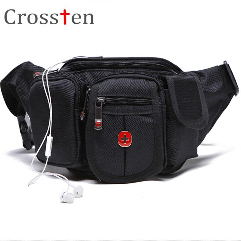 CROSSTEN HIGHT QUALITY 230D NYLON TRAVEL BUM BAG BELT WAIST BAG FANNY PACK CHEST BAG