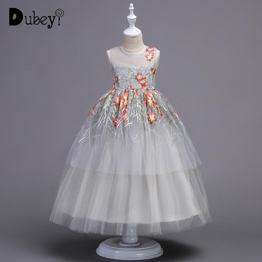 Boutique longue robe de princesse 5-16 ans fille robe de soirée première Communion décorations de fête élégante fleur fille robe de mariée