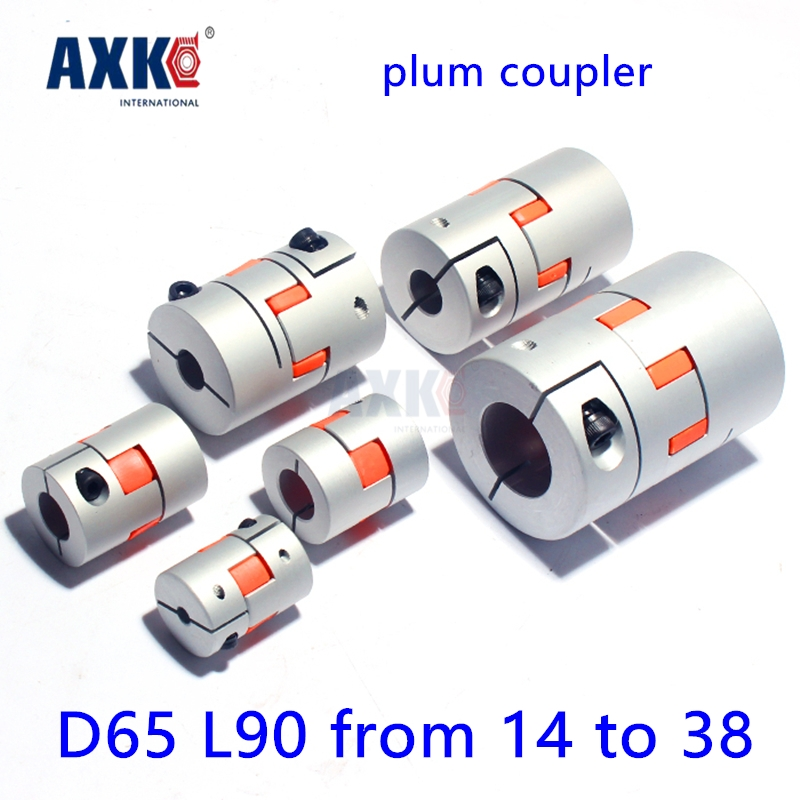 Ball Bearing Bearing Axk Diameter 65mm Length 90mm Plum Clamp Coupler D65 L90 Shaft Size From 14mm To 38mm Cnc Jaw Coupling cnc plum shaft flexible jaw spider coupler 12mm 14mm motor coupling 12mm to 14mm dia 30mm length 35mm