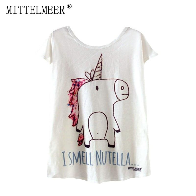 MITTELMEER New kawaii t Shirt Women harajuk Crew Neck Top Short Sleeve Cartoon pig printing T-Shirts Summer Tee For Ladies