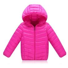Binhbet Hot High Quality 2016 Winter Child Boy Down Jacket Parka Big Girl Thin Warm Coat 13 14 15 Year Light Hooded Outerwears