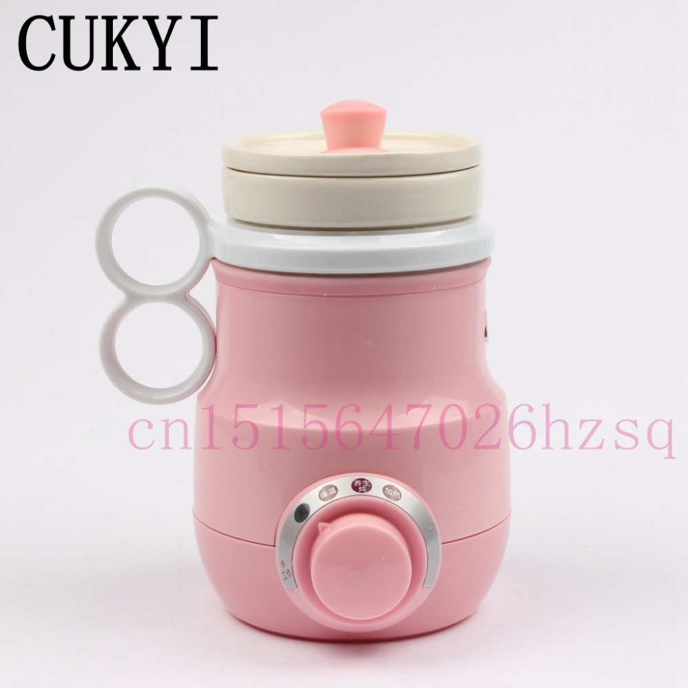 CUKYI Ceramic Liner Health Pot Automatic Multifunctional Split type Portable CuThickenip ng Teapot Chinese Medicine Kettle cukyi automatic electric slow cookers purple sand household pot high quality steam stew ceramic pot 4l capacity