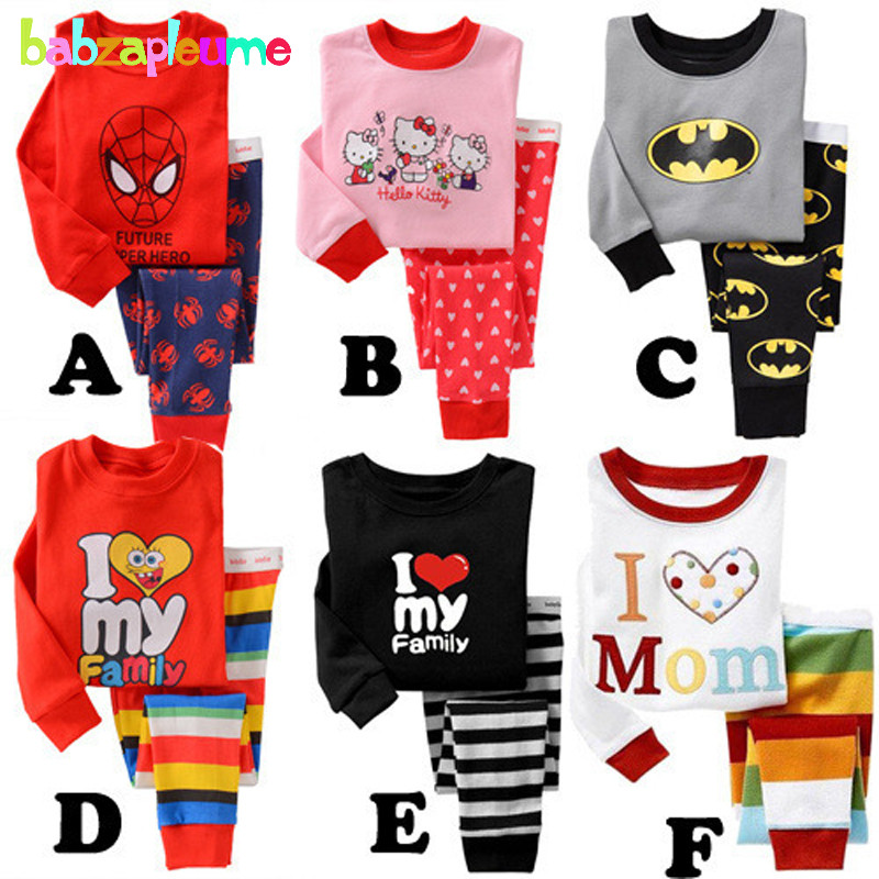 Baby Girls Clothing Kids Boys Pajama Sets Toddler Girl Sleepwear Cotton Children Clothes Suit Spring Autumn New Nightgown BC1250
