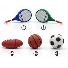 Спорт ручка привод USB флэш-накопитель регби/Футбол/Баскетбол/Теннис Флешка 4 ГБ 8 г 16 г 32 Гб 64 ГБ флеш-карта памяти u-диск подарок