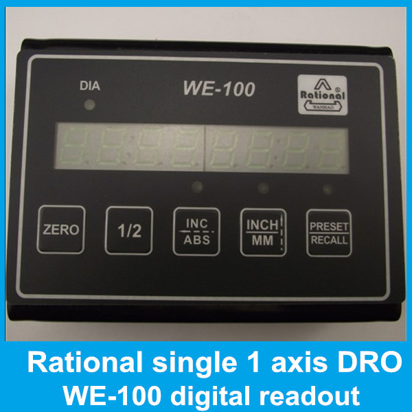 Milling lathe machine Rational one axis digital readout WE100 Single axis dro simple display LCD screen dro  цены