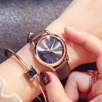 JULIUS 2018 Luxury Gold Women Watches Thin Leather Simple Girls Ladies Quartz Watch Waterproof Vintage Clock Relogio Faminino