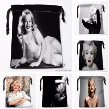 Custom Marilyn Monroe Drawstring Bags Printing Travel Storage Mini Pouch Swim Hiking Toy Bag Size 18x22cm#180412-11-85