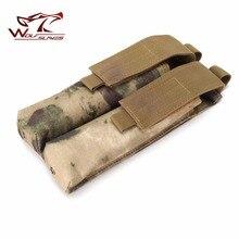 Новое поступление Airsoft Molle Чехол Двойной P90/UMP военный подсумок тактическая охотничья сумка Mag Molle поясная сумка черные чехлы