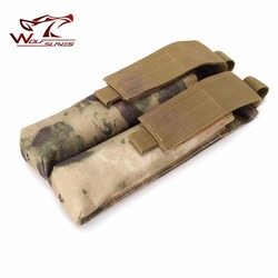 Nieuwe Collectie Airsoft Molle Pouch Dubbele P90/Ump Militaire Magazine Pouch Tactical Hunting Bag Mag Molle Riem Pouch Black zakjes